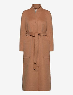 Luna Coat - manteaux en laine - brown mocha