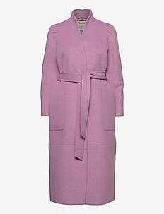 Luna Coat - manteaux en laine - smokey purple