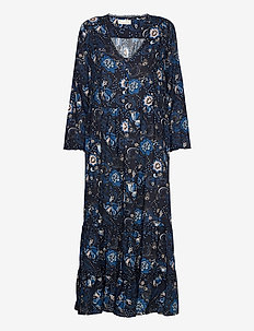 Doreen Dress - midi kjoler - dark blue