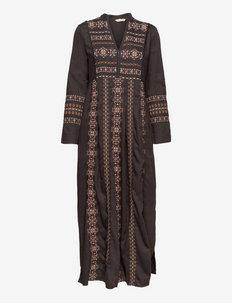 Eloise Long Dress - alledaagse jurken - asphalt