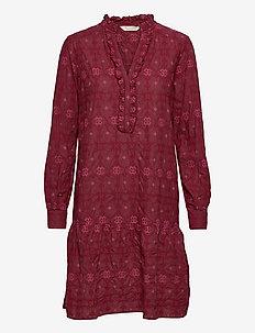 Célia Dress - hverdagskjoler - baked burgundy