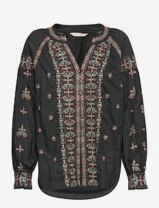 Charlotte Blouse - blouses med lange mouwen - deep asphalt