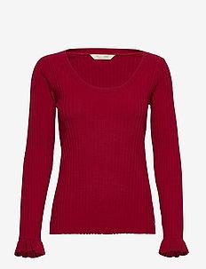 Liza L/S Top - hauts à manches longues - red elderberry