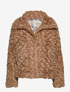 Amandine Jacket - fake fur - soft taupe