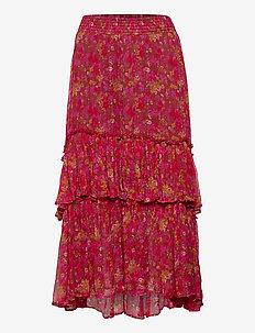 Claudette Skirt - jupes midi - baked burgundy