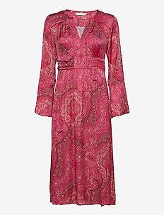 Amélie Long Dress - midi kjoler - red elderberry
