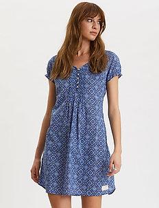 Perfect Print Short Dress - korta klänningar - vivid blue