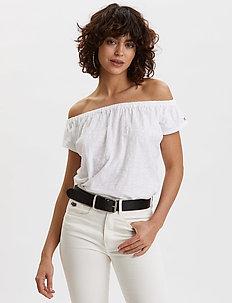 Dooer Top - basic t-shirts - bright white