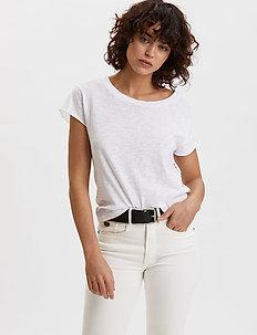 Dooer T-shirt - basic t-shirts - bright white