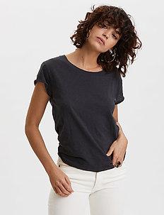 Dooer T-shirt - basic t-shirts - deep asphalt