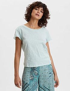 Dooer T-shirt - basic t-shirts - faded turquoise