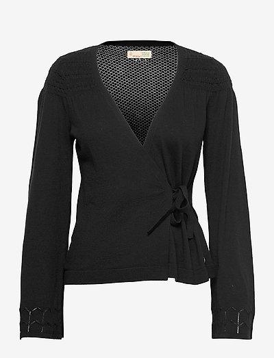 Marina Wrap Cardigan - långärmade blusar - black