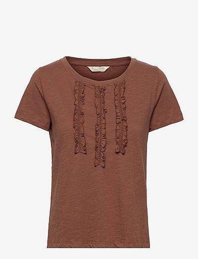 Cassidy Top - t-shirts - dark sand