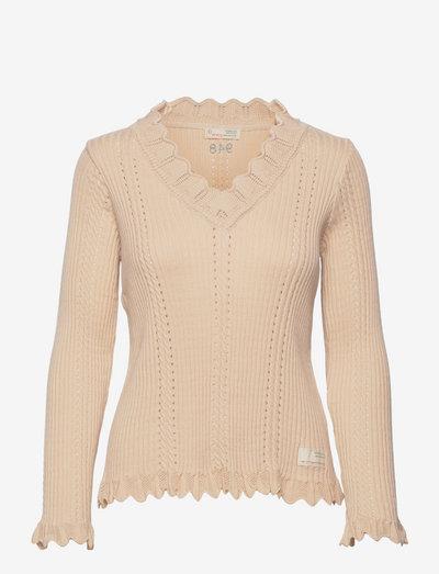Ellen Sweater - trøjer - light porcelain