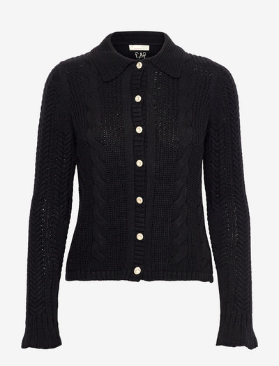 Martha Knitted Jacket - cardigans - almost black
