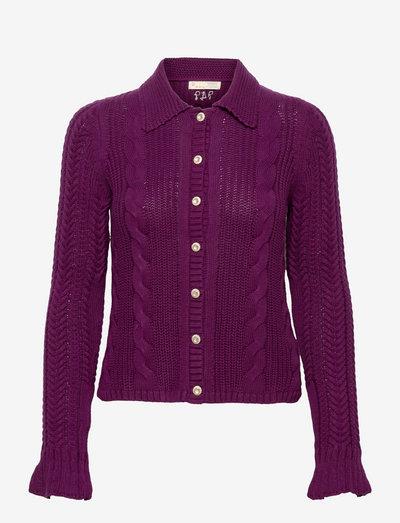 Martha Knitted Jacket - cardigans - purple ink