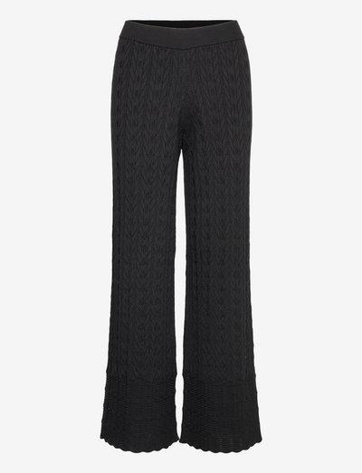 Kallie Pants - bukser med brede ben - almost black