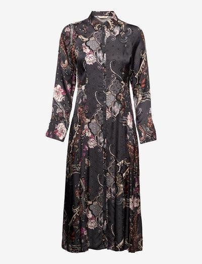 Demi Long Dress - sommerkjoler - asphalt