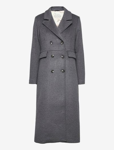 Selena Coat Solid - uldfrakker - deep asphalt