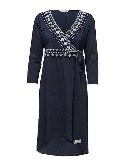 get-a-way l/s dress - DARK BLUE