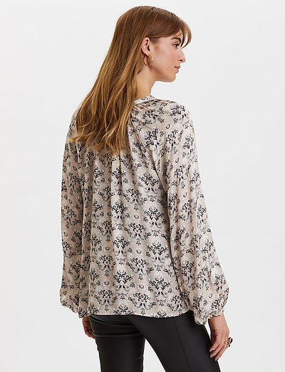 Odd Molly Sensational Blouse- Blusen & Hemden Pebble Grey