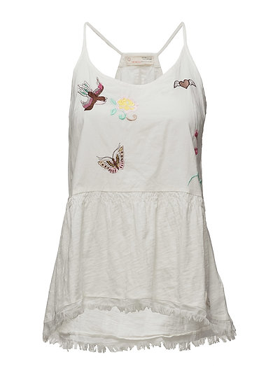 set me free tanktop - LIGHT CHALK