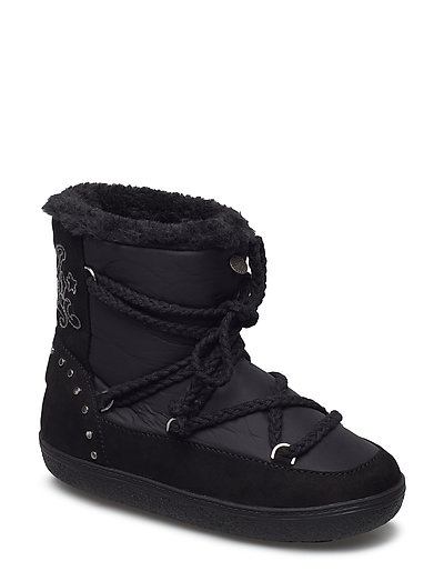 soft artic low boot - ALMOST BLACK