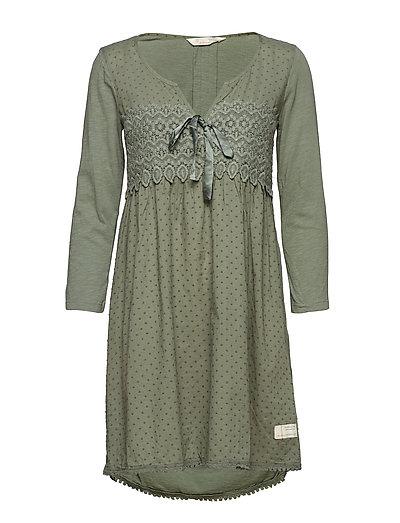 lace hug dress - CARGO GREEN