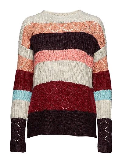 cde9b3addf Wolly Blocks Sweater (Red Sky) (£89.55) - ODD MOLLY -