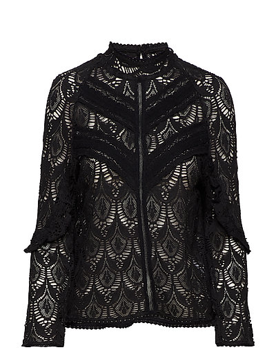 layer cake blouse - ALMOST BLACK