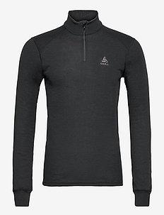 Aluminium Turtle Neck Top Halfzip Active Warm - underställströjor - black