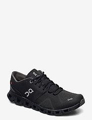 On - CloudX - running shoes - black/asphalt - 1