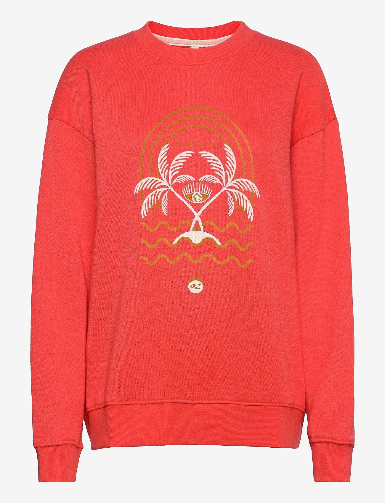 O'neill - LW CALI GRAPHIC CREW - sweatshirts - hot coral - 0