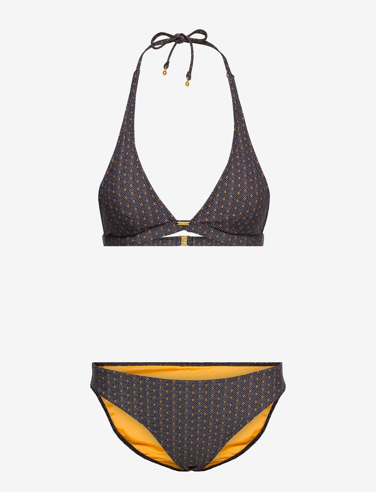 O'neill - PW MARGA  RITA FIXED SET - MM - bikini sæt - black aop w/ yellow - 0