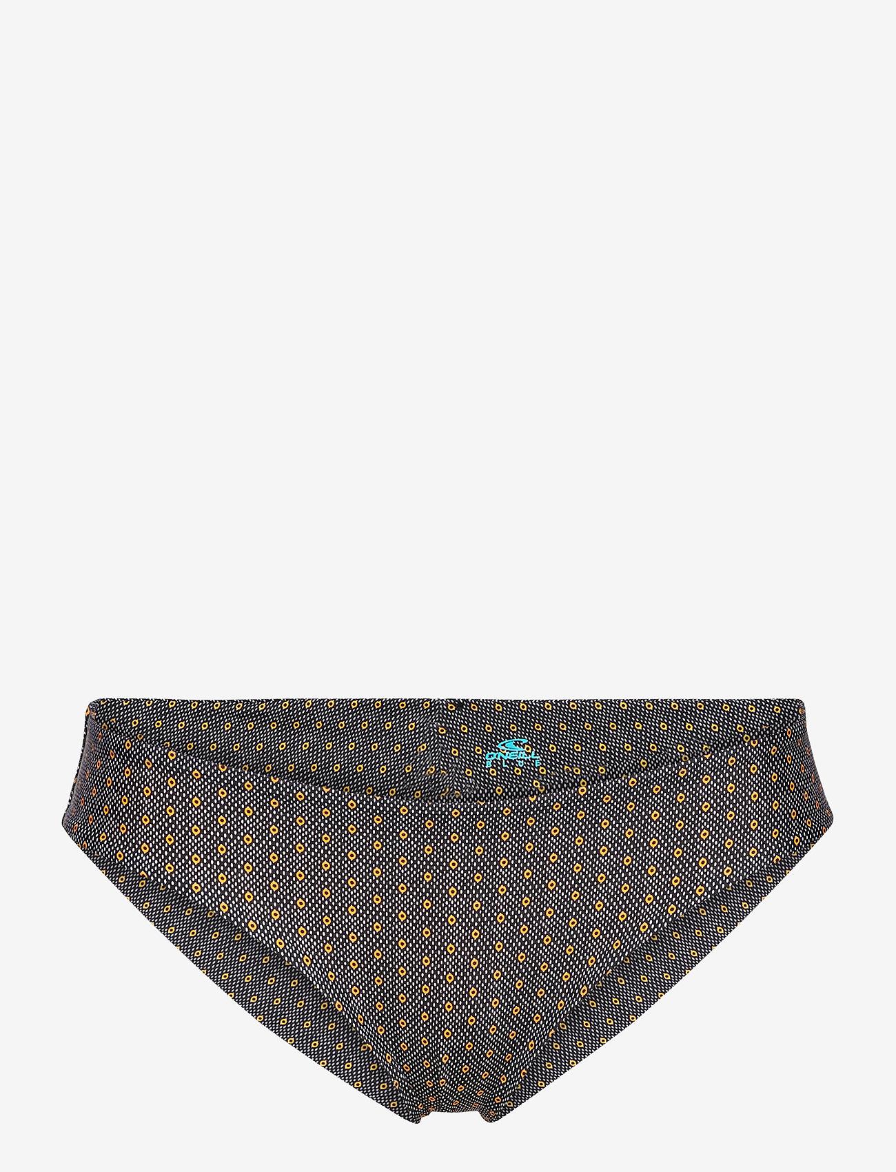 O'neill - PW MAOI  BOTTOM - majtki bikini - black aop w/ yellow - 0