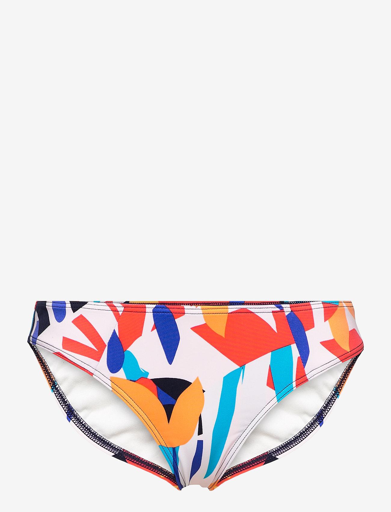 O'neill - PW CRUZ SUPERKINI BOTTOM - majtki bikini - blue aop w/ red - 0