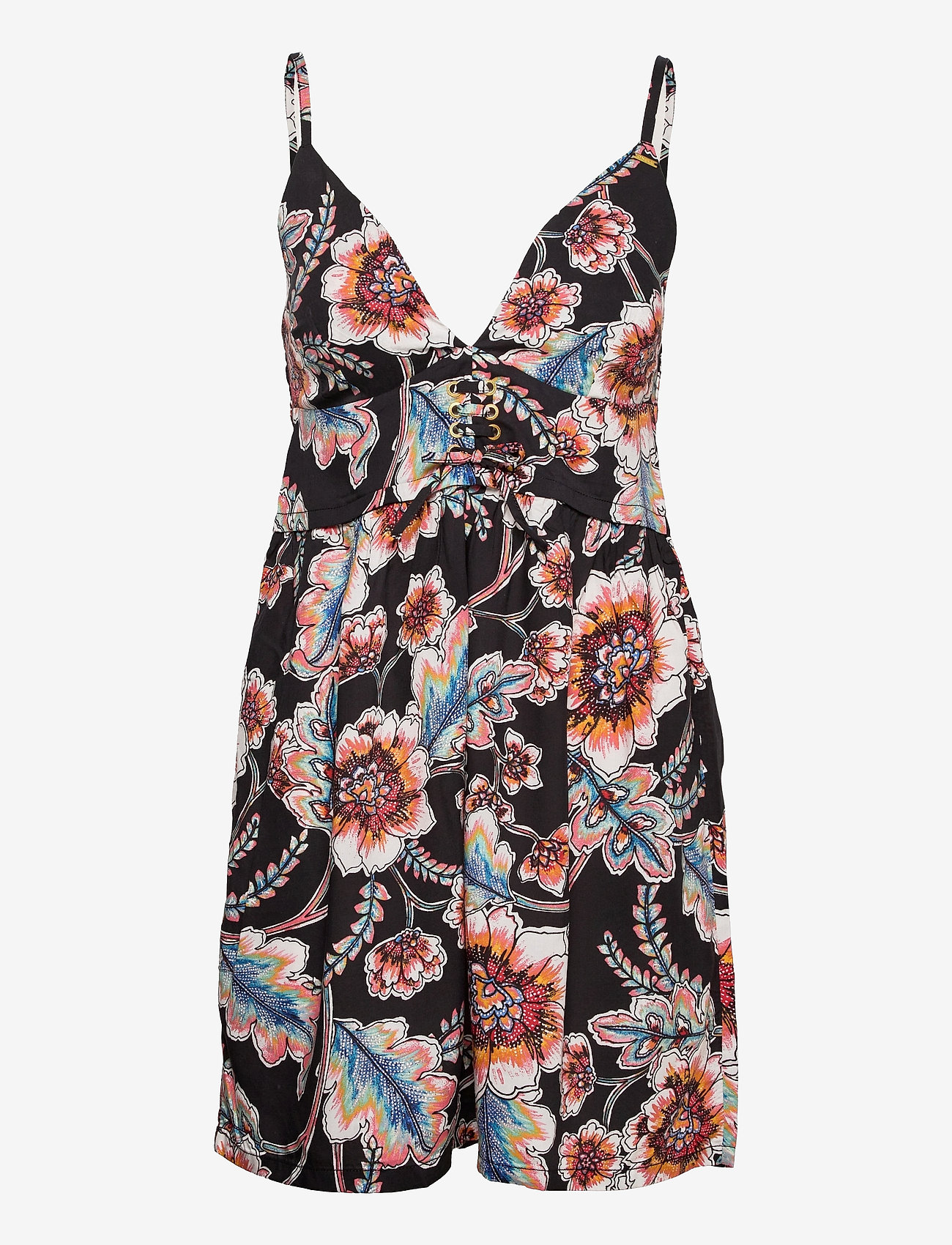 O'neill - LW MEDI AOP DRESS - sommerkjoler - black aop w/ red - 0