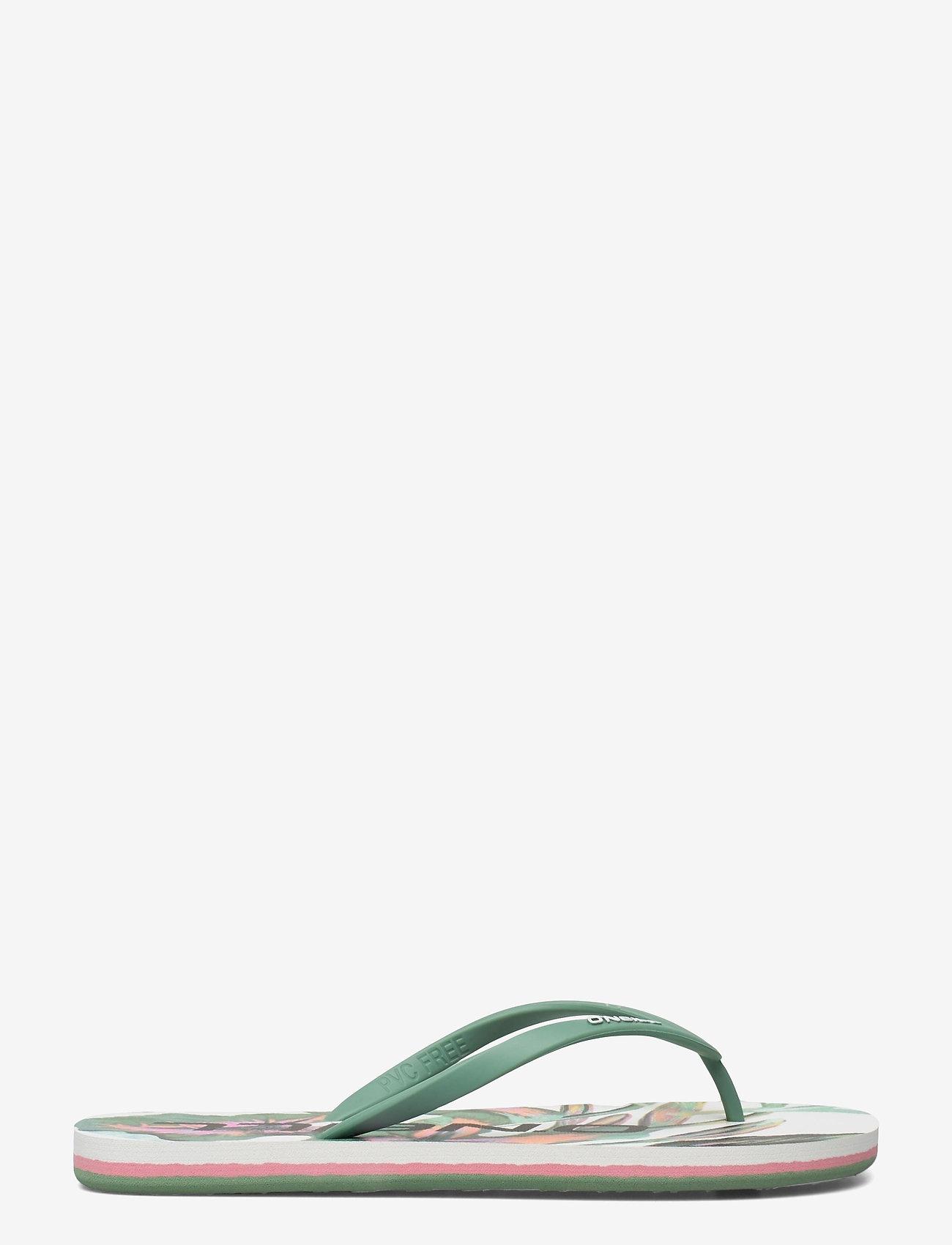 O'Neill - FW PROFILE GRAPHIC SANDALS - sport schoenen - white aop w/green - 1