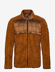 O'Neill - PM BAFFLE MIX FZ FLEECE - basic-sweatshirts - glazed ginger - 0