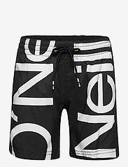 O'Neill - PB CALI ZOOM SHORTS - bademode - black aop w/ white - 0