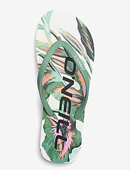 O'Neill - FW PROFILE GRAPHIC SANDALS - sport schoenen - white aop w/green - 3