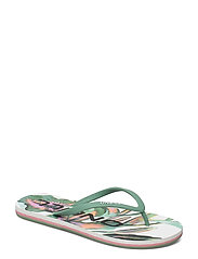 FW PROFILE GRAPHIC SANDALS - WHITE AOP W/GREEN