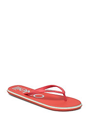 FW PROFILE LOGO SANDALS - HOT CORAL