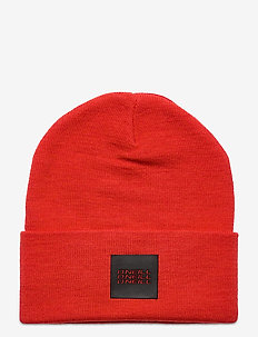 BM TRIPLE STACK BEANIE - mössor - fiery red