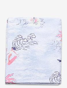 BM O'NEILL BEACH AOP TOWEL - schwimmzubehör - blue aop w/ pink-purple