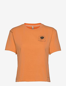 LW GRAPHIC TEE - t-shirts - blazing orange