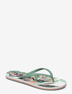 FW PROFILE GRAPHIC SANDALS - sport schoenen - white aop w/green