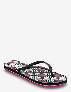 FG MOYA SANDALS - flip flops & watershoes - black aop w/pink 1
