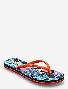 FG MOYA SANDALS - slipper - blue aop pink purple