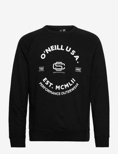 Americana Crew Sweatshirt - långärmade tröjor - blackout - a